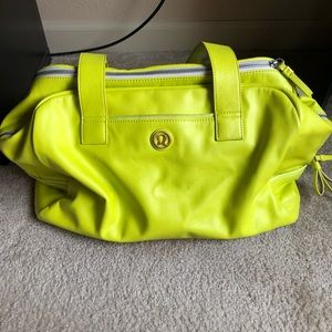 Lululemon rare neon yellow bag